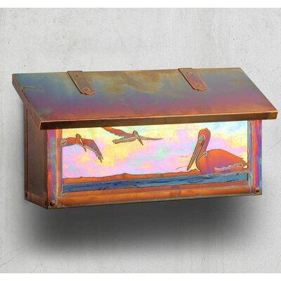 Coastal Cottage Wall Mounted Mailbox with Rain Overhang Finish: Warm Brass, Glass Color: Wispy White