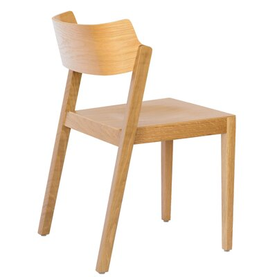 RH Solid Wood Dining Chair Color: Oak