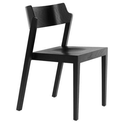 RH Solid Wood Dining Chair Color: Black