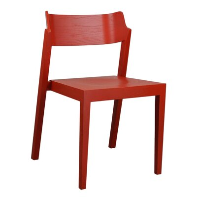 RH Solid Wood Dining Chair Color: Red