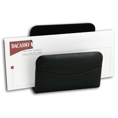 1000 Series Classic Leather Letter Holder in Black A1008