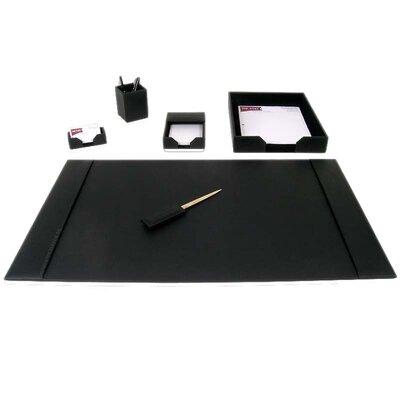 1400 Series Econo-Line Leather 6 Piece Desk Set D1401