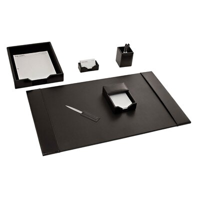 1400 Series Econo-Line Leather 6 Piece Desk Set Finish: Black D1401