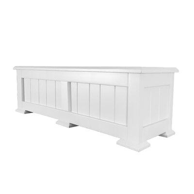 Shutters By Design Square Planter Box - Color: White, Size: 12