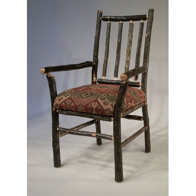 Berea Rail Back Arm Chair Upholstery: Braymar