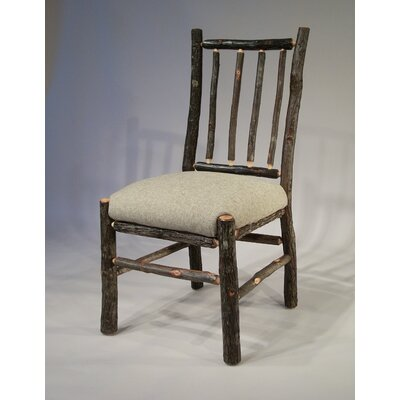 Berea Rail Back Side Chair Upholstery: Burlap