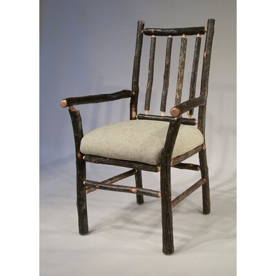 Berea Rail Back Arm Chair Upholstery: Burlap