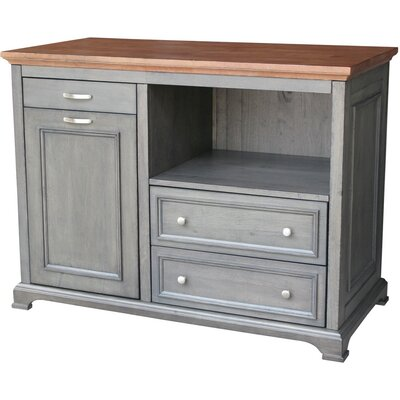 Bristol Kitchen Island with Wood Top