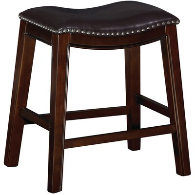 Bella 24 Bar Stool (Set of 2) Upholstery: Dark Brown