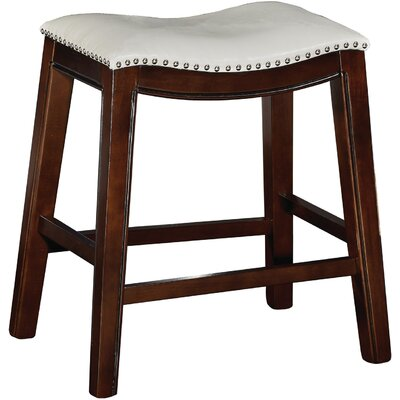 Bella 24 Bar Stool (Set of 2) Upholstery: Tan