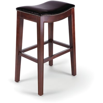 Bella 30 Bar Stool with Cushion (Set of 2) Upholstery: Dark Brown