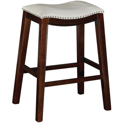 Bella 30 inch Bar Stool with Cushion (Set of 2) Upholstery: Tan