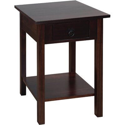 Stolik End Table Color: Espresso