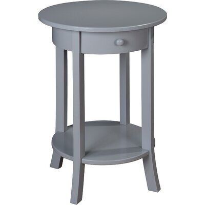 Olivia Round End Table Finish: Grey
