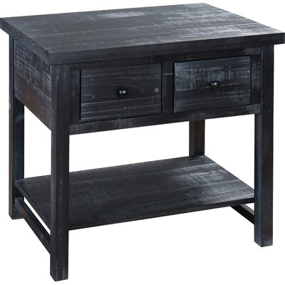 Farmhouse End Table Finish: Black