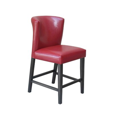 Hawkins 24 Barstool (Set of 2) Upholstery: Red