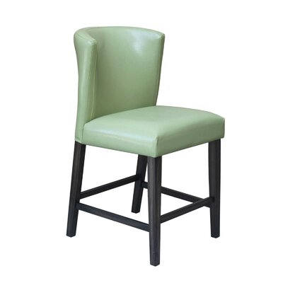 Hawkins 24 Barstool (Set of 2) Upholstery: Green