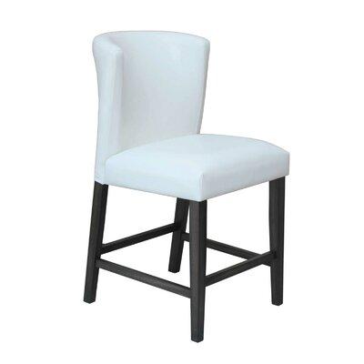 Hawkins 24 Barstool (Set of 2) Upholstery: White
