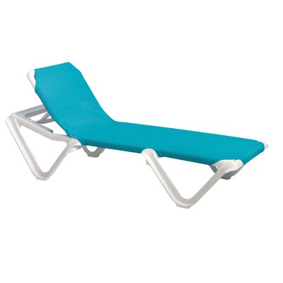 Nautical Chaise Lounge (Set of 2) Fabric: Turquoise