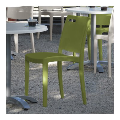 Grosfillex Commercial Resin Furniture Metro Stacking Patio Dining Chair (Set of 4)