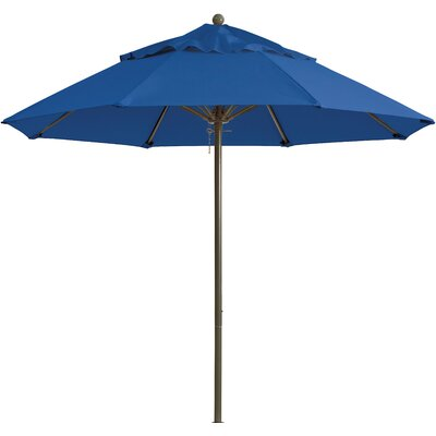 9 Windmaster Market Umbrella Fabric: Pacific Blue