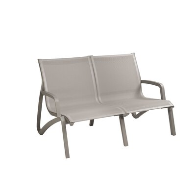Leighann Armless Loveseat (Set of 2) Finish: Platinum Gray