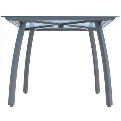 Leighann Square Table Base Finish: Platinum Gray