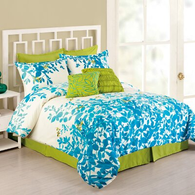 Flourish 8 Piece Comforter Set Size: Queen