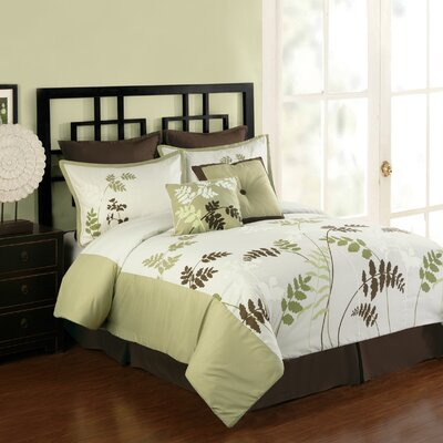 Meadowland 8 Piece Comforter Set Size: King