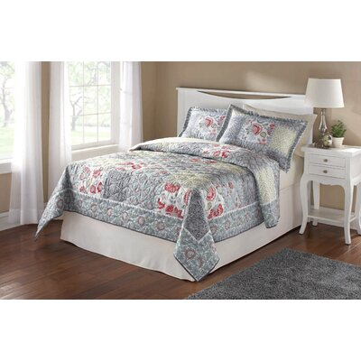Faye Patchwork 3 Piece Quilt Set Size: King