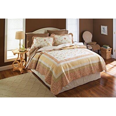 Blush Garden 3 Piece Quilt Set Size: King