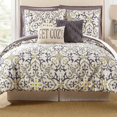 Madrid 7 Piece Comforter Set Size: King