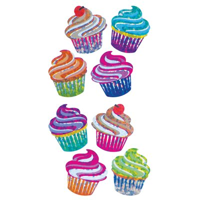 Jillson & Roberts Bulk Roll Prismatic Mini Cupcake Sticker at Sears.com