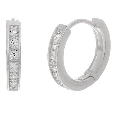 Lesa Michelle Cubic Zirconia Hoop Earrings (Set of 3)