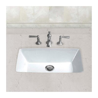 Ceramic Bowl Rectangular Undermount Bathroom Sink with Overflow Sink Finish: White