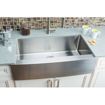 Chef Series 35.88 x 20.75 Single Bowl Farmhouse Kitchen Sink