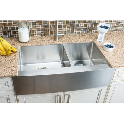Chef Series 35.88 x 20.75 Double Bowl Farmhouse Kitchen Sink