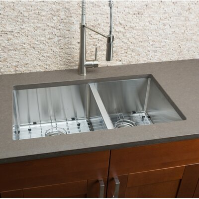 32 x 19 Double Bowl Kitchen Sink