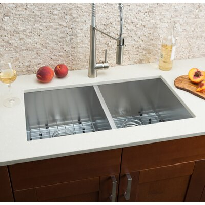 32 x 16 Double Bowl Kitchen Sink