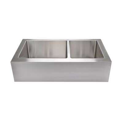 35.88 x 20.75 Extra Large Stainless Steel Flat Front Farmhouse Kitchen Sink
