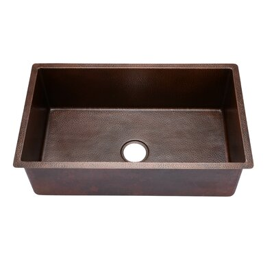 Copper Large Undermount Single Bowl Kitchen Sink
