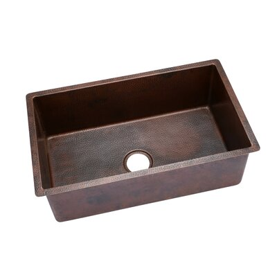 32 x 19 Copper Extra Large Undermount Single Bowl Kitchen Sink