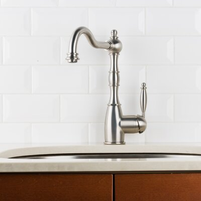 Victorian Deck Mounted Single Handle Kitchen Faucet Finish: Stainless Steel