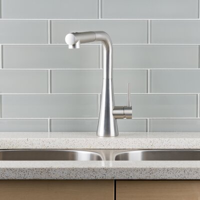 Pull Out Single Handle Kitchen Faucet Finish: Stainless Steel