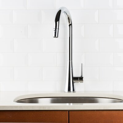 Deck Pull Down Single Handle Kitchen Faucet Finish: Chrome