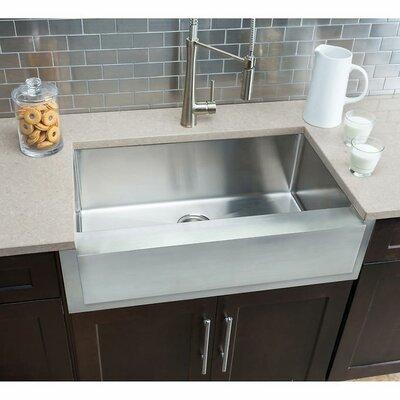 Notched 32.88 x 20.75 Single Bowl Farmhouse Kitchen Sink