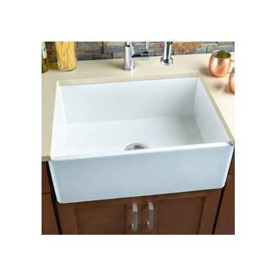 26 x 20 Fireclay Single Bowl Kitchen Sink