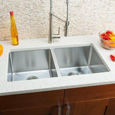 Chef Series 32 x 18 Double Bowl Undermount Kitchen Sink