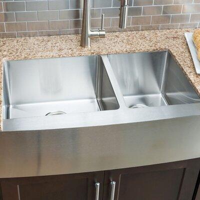 Chef Series 32.88 x 20.75 Double Bowl Farmhouse Kitchen Sink