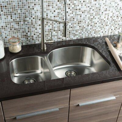 Classic Chef 32.38 x 20.5 Double Bowl Undermount Kitchen Sink